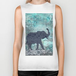 Majestic Series: Turquoise and silver Biker Tank