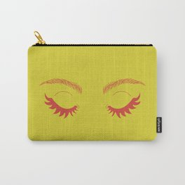 Betty Gone Batty (Red on Chartreuse Edition) Carry-All Pouch