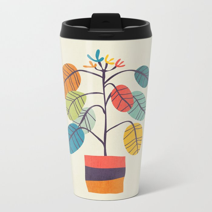 Potted plant 2 Metal Travel Mug