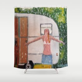 Caravan Shower Curtain