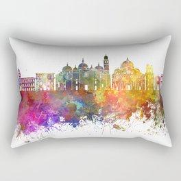Padua skyline in watercolor background Rectangular Pillow