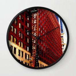 Vintage Chicago: Cadillac Palace theatre photography Wall Clock