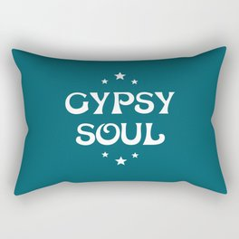 Gypsy Soul Mystical Stars Teal Rectangular Pillow