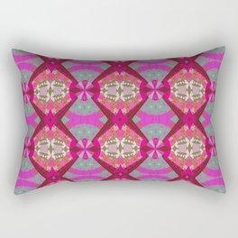 Vintage African Rhythmic Pinks Rectangular Pillow