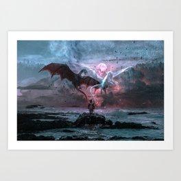 Dragon castaway Art Print