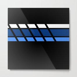 Team Colors 4 ..Aqua ,blue Metal Print