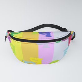 Mind Your P's and Q's Fanny Pack