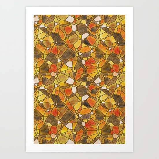 stained glass mosaic Art Print