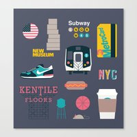 nyc Canvas Prints featuring NYC by 914k