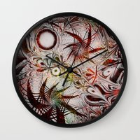 holiday Wall Clocks featuring Holiday by Klara Acel