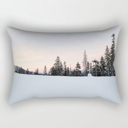 December morning at mountains Rectangular Pillow