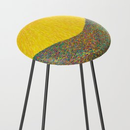Here Comes the Sun - Van Gogh impressionist abstract Counter Stool