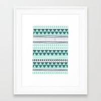 stripe Framed Art Prints featuring Winter Stripe by Alice Rebecca Potter