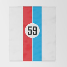 Brumos Racing Stripes Throw Blanket