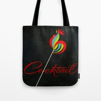 cigarettes Tote Bags featuring Cocktail - Vintage Cigarettes by Fernando Vieira