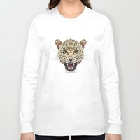 leopard Long Sleeve T-shirts featuring Leopard by dailydunners