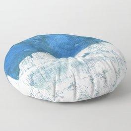 Lapis lazuli abstract watercolor Floor Pillow