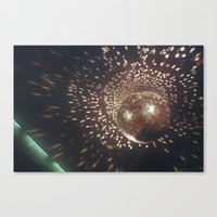 disco Canvas Prints featuring disco by oanauciuf
