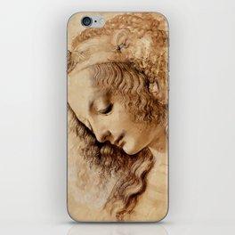 "Leonardo da Vinci ""Woman's head"" 3. iPhone Skin"