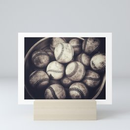 Bucket of Baseballs Mini Art Print