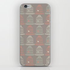 Bird Cage Pattern, Illustration, Shabby Chic, Vintage, iPhone & iPod Skin
