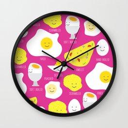 Happy Eggs Wall Clock