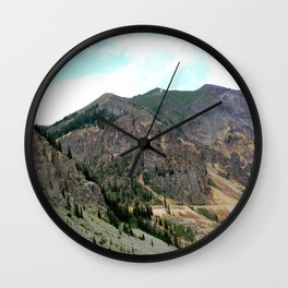 First View of the Eureka Mine, Coming Up the Animas River Wall Clock