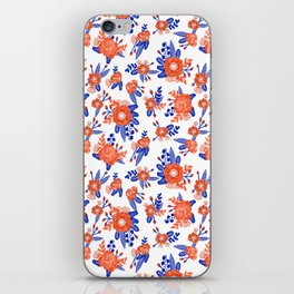 Florida floral orange and blue gators swamp varsity minimal university sports football fan iPhone Skin