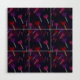 Lollipop Hearts Pattern Wood Wall Art