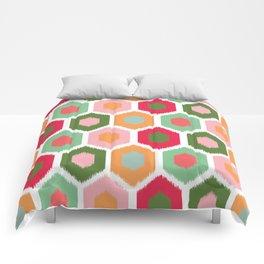 ikat honeycomb tutti fruit #homedecor Comforters