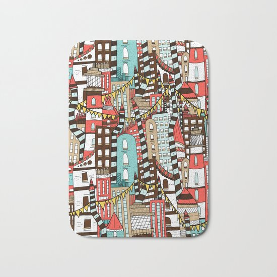 The City of Towers Bath Mat