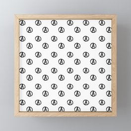 Symbol of anarchy bw 2 Framed Mini Art Print