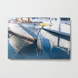 Madeline's Reflection in the Shipyard Metal Print