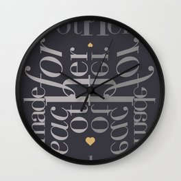 Made for each other #society6 #decor #buyart Wall Clock