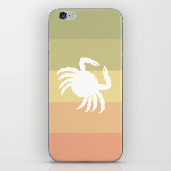 Out At Sea Series - Sideways and Crabby iPhone & iPod Skin
