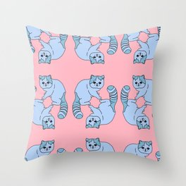 Playful Kittens, 2014. Throw Pillow
