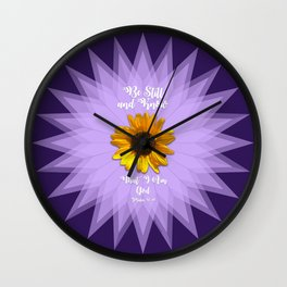 Be Still and Know... Wall Clock