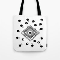 cycling Tote Bags featuring Contingency Cycling by Night Version