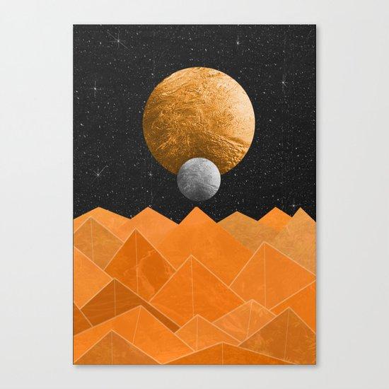 The Orange Planet Canvas Print