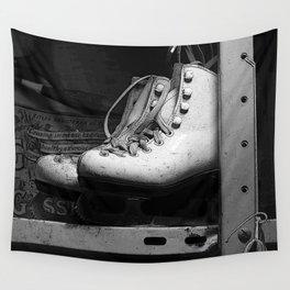 Vintge Skates-B&W Wall Tapestry