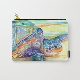 Rainbow Sea Turtle 2 Carry-All Pouch