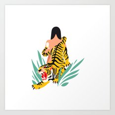 Waking the tiger Art Print