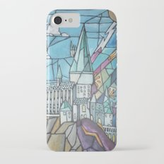 Hogwarts stained glass style iPhone 7 Slim Case