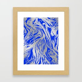 Marbled Blue Framed Art Print