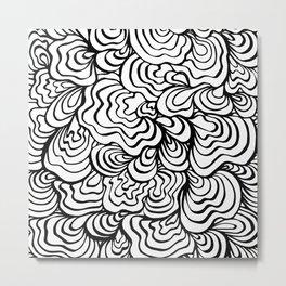 Organic Wave Metal Print