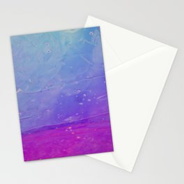 Abstract - blue and pink - Stationery Cards
