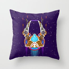 starship in space Throw Pillow