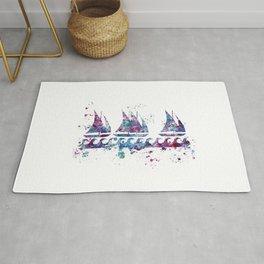 Little boats Rug