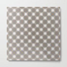 Brown and Blue Geometric - Light Starbursts Metal Print