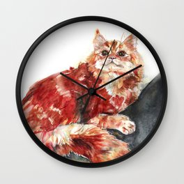 Cat on a tree Wall Clock